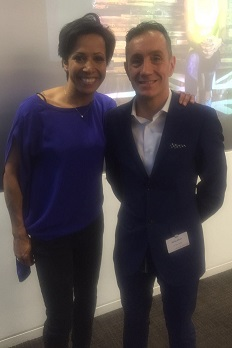 Phillip Minns and Kelly Holmes