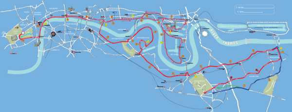 London Marathon route