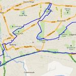 Barking Hare 21 Mile Route Map