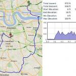 Lewisham Hook 20 Mile Route Map